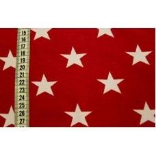 Rødt stof med hvide stjerner