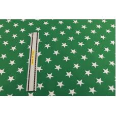 Grøn m. hvide stjerner