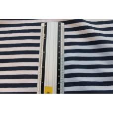 Marineblå og hvide striber