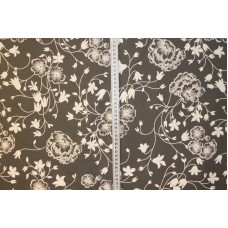 Blomstermønster på grå
