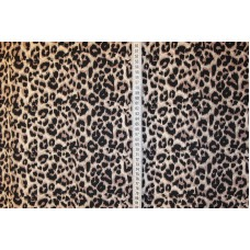 Beige og brunt leopardprint