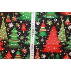 Juletræer på sort