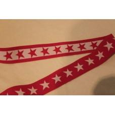 Pink eller hvide stjerner 40 mm elastik