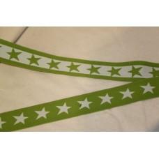 Hvid eller limegrønne stjerner 40 mm elastik