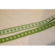 Hvide eller limegrønne stjerner 20 mm elastik