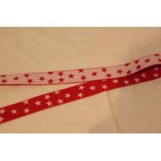 Hvide eller røde stjerner 25 mm elastik