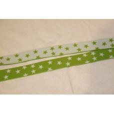 Hvid eller limegrønne stjerner 25 mm elastik