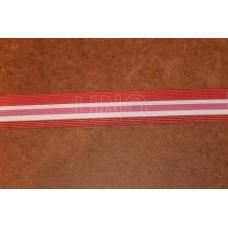 Pink og hvide striber og teksten UNO 35 mm elastik