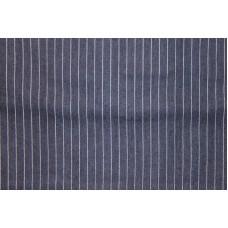 Mørkblå med hvide striber
