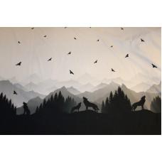 Ulve og bjerge sort