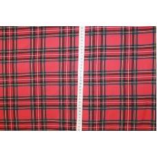 Skotsk ternet rød blå