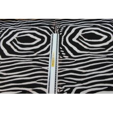 Sorte og hvide zebrastriber