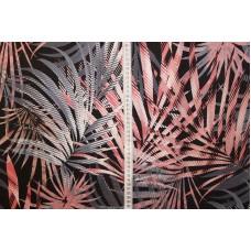 Bregneblade i grå, hvide og lyserødefarve
