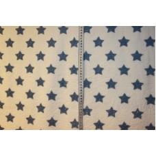 Hvid med støvede blå stjerner