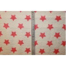 Hvid med støvede pink stjerner