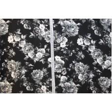 Hvide roser på sort