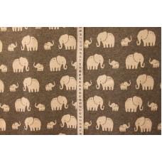 Grå med elefanter